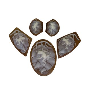 5pc Frog on Leaves Cameo Suite